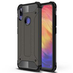 King Kong Armor Premium Shockproof Dual Layer Rugged Hard Cover for Xiaomi Mi Redmi Note 7 / Note 7 Pro - Bronze