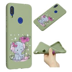 Butterfly Elephant Anti-fall Frosted Relief Soft TPU Back Cover for Xiaomi Mi Redmi Note 7 / Note 7 Pro