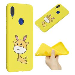 Cute Deer Anti-fall Frosted Relief Soft TPU Back Cover for Xiaomi Mi Redmi Note 7 / Note 7 Pro