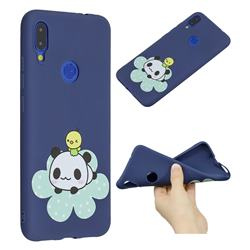 Panda and Chick Anti-fall Frosted Relief Soft TPU Back Cover for Xiaomi Mi Redmi Note 7 / Note 7 Pro