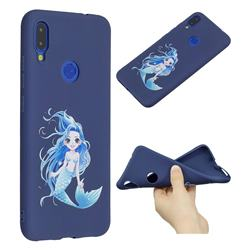 Mermaid Girl Anti-fall Frosted Relief Soft TPU Back Cover for Xiaomi Mi Redmi Note 7 / Note 7 Pro