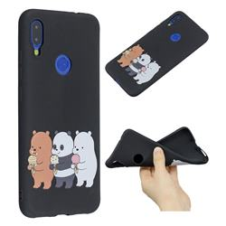 Ice Cream Bear Anti-fall Frosted Relief Soft TPU Back Cover for Xiaomi Mi Redmi Note 7 / Note 7 Pro