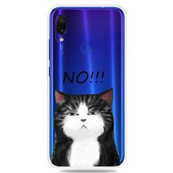 Cat Say No Clear Varnish Soft Phone Back Cover for Xiaomi Mi Redmi Note 7 / Note 7 Pro