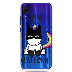Batman Clear Varnish Soft Phone Back Cover for Xiaomi Mi Redmi Note 7 / Note 7 Pro
