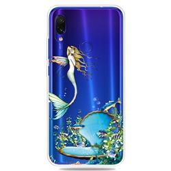 Mermaid Clear Varnish Soft Phone Back Cover for Xiaomi Mi Redmi Note 7 / Note 7 Pro