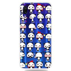 Mini Panda Clear Varnish Soft Phone Back Cover for Xiaomi Mi Redmi Note 7 / Note 7 Pro