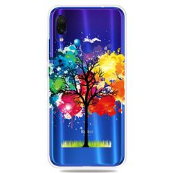 Oil Painting Tree Clear Varnish Soft Phone Back Cover for Xiaomi Mi Redmi Note 7 / Note 7 Pro