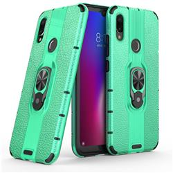 Alita Battle Angel Armor Metal Ring Grip Shockproof Dual Layer Rugged Hard Cover for Xiaomi Mi Redmi Note 7 / Note 7 Pro - Green