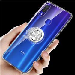 Anti-fall Invisible Press Bounce Ring Holder Phone Cover for Xiaomi Mi Redmi Note 7 / Note 7 Pro - Transparent