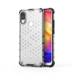Honeycomb TPU + PC Hybrid Armor Shockproof Case Cover for Xiaomi Mi Redmi Note 7 / Note 7 Pro - Transparent