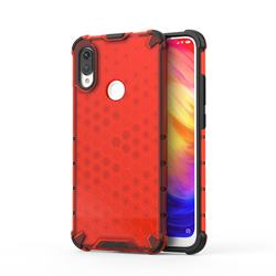 Honeycomb TPU + PC Hybrid Armor Shockproof Case Cover for Xiaomi Mi Redmi Note 7 / Note 7 Pro - Red