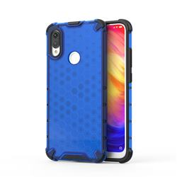 Honeycomb TPU + PC Hybrid Armor Shockproof Case Cover for Xiaomi Mi Redmi Note 7 / Note 7 Pro - Blue