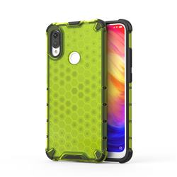Honeycomb TPU + PC Hybrid Armor Shockproof Case Cover for Xiaomi Mi Redmi Note 7 / Note 7 Pro - Green
