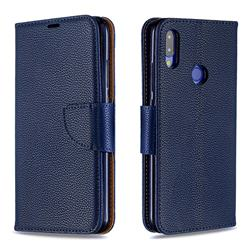 Classic Luxury Litchi Leather Phone Wallet Case for Xiaomi Mi Redmi Note 7 / Note 7 Pro - Blue