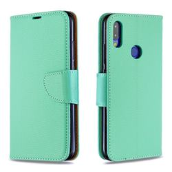 Classic Luxury Litchi Leather Phone Wallet Case for Xiaomi Mi Redmi Note 7 / Note 7 Pro - Green