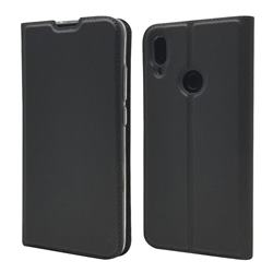 Ultra Slim Card Magnetic Automatic Suction Leather Wallet Case for Xiaomi Mi Redmi Note 7 / Note 7 Pro - Star Grey