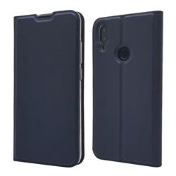 Ultra Slim Card Magnetic Automatic Suction Leather Wallet Case for Xiaomi Mi Redmi Note 7 / Note 7 Pro - Royal Blue