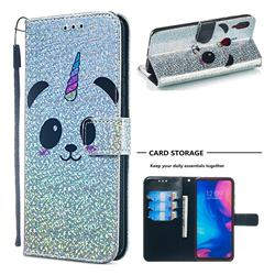 Panda Unicorn Sequins Painted Leather Wallet Case for Xiaomi Mi Redmi Note 7 / Note 7 Pro