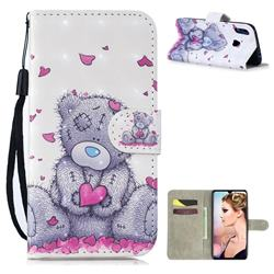 Love Panda 3D Painted Leather Wallet Phone Case for Xiaomi Mi Redmi Note 7 / Note 7 Pro