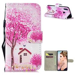 Tree House 3D Painted Leather Wallet Phone Case for Xiaomi Mi Redmi Note 7 / Note 7 Pro