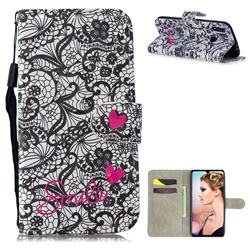 Lace Flower 3D Painted Leather Wallet Phone Case for Xiaomi Mi Redmi Note 7 / Note 7 Pro