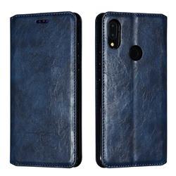 Retro Slim Magnetic Crazy Horse PU Leather Wallet Case for Xiaomi Mi Redmi Note 7 / Note 7 Pro - Blue