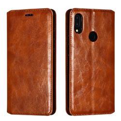 Retro Slim Magnetic Crazy Horse PU Leather Wallet Case for Xiaomi Mi Redmi Note 7 / Note 7 Pro - Brown