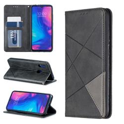 Prismatic Slim Magnetic Sucking Stitching Wallet Flip Cover for Xiaomi Mi Redmi Note 7 / Note 7 Pro - Black