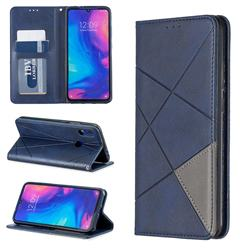 Prismatic Slim Magnetic Sucking Stitching Wallet Flip Cover for Xiaomi Mi Redmi Note 7 / Note 7 Pro - Blue