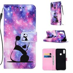 Panda Baby Matte Leather Wallet Phone Case for Xiaomi Mi Redmi Note 7 / Note 7 Pro
