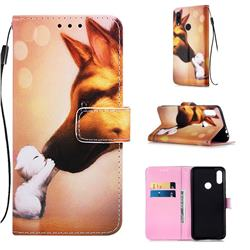 Hound Kiss Matte Leather Wallet Phone Case for Xiaomi Mi Redmi Note 7 / Note 7 Pro