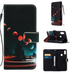 Wandering Earth Matte Leather Wallet Phone Case for Xiaomi Mi Redmi Note 7 / Note 7 Pro