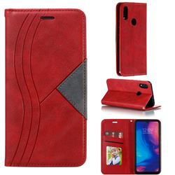 Retro S Streak Magnetic Leather Wallet Phone Case for Xiaomi Mi Redmi Note 7 / Note 7 Pro - Red