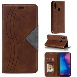 Retro S Streak Magnetic Leather Wallet Phone Case for Xiaomi Mi Redmi Note 7 / Note 7 Pro - Brown