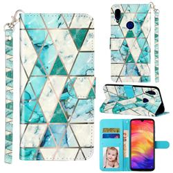 Stitching Marble 3D Leather Phone Holster Wallet Case for Xiaomi Mi Redmi Note 7 / Note 7 Pro
