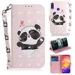 Heart Cat 3D Painted Leather Wallet Phone Case for Xiaomi Mi Redmi Note 7S