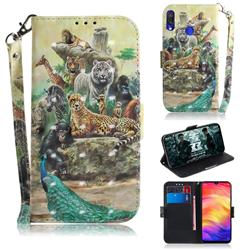 Beast Zoo 3D Painted Leather Wallet Phone Case for Xiaomi Mi Redmi Note 7S
