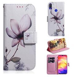 Magnolia Flower PU Leather Wallet Case for Xiaomi Mi Redmi Note 7S