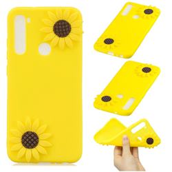 Yellow Sunflower Soft 3D Silicone Case for Mi Xiaomi Redmi Note 8
