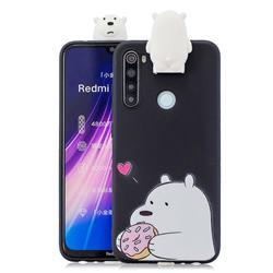 Big White Bear Soft 3D Climbing Doll Stand Soft Case for Mi Xiaomi Redmi Note 8