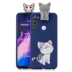 Grinning Cat Soft 3D Climbing Doll Stand Soft Case for Mi Xiaomi Redmi Note 8