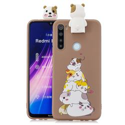 Hamster Family Soft 3D Climbing Doll Stand Soft Case for Mi Xiaomi Redmi Note 8