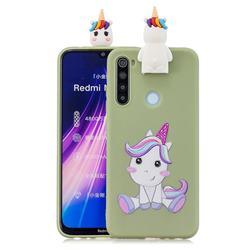 Cute Unicorn Soft 3D Climbing Doll Stand Soft Case for Mi Xiaomi Redmi Note 8