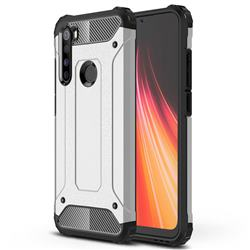 King Kong Armor Premium Shockproof Dual Layer Rugged Hard Cover for Mi Xiaomi Redmi Note 8 - White