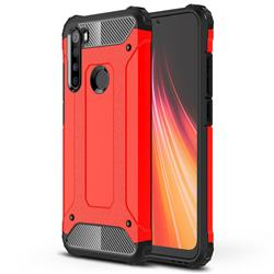 King Kong Armor Premium Shockproof Dual Layer Rugged Hard Cover for Mi Xiaomi Redmi Note 8 - Big Red