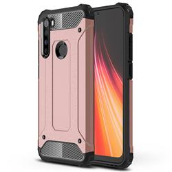 King Kong Armor Premium Shockproof Dual Layer Rugged Hard Cover for Mi Xiaomi Redmi Note 8 - Rose Gold