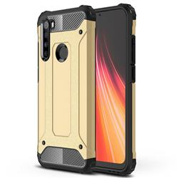 King Kong Armor Premium Shockproof Dual Layer Rugged Hard Cover for Mi Xiaomi Redmi Note 8 - Champagne Gold