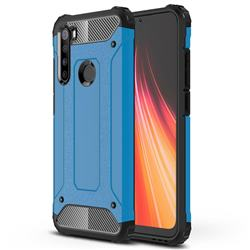 King Kong Armor Premium Shockproof Dual Layer Rugged Hard Cover for Mi Xiaomi Redmi Note 8 - Sky Blue