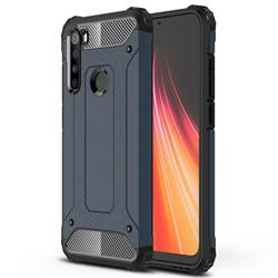King Kong Armor Premium Shockproof Dual Layer Rugged Hard Cover for Mi Xiaomi Redmi Note 8 - Navy