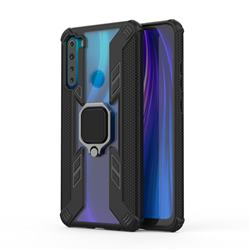 Predator Armor Metal Ring Grip Shockproof Dual Layer Rugged Hard Cover for Mi Xiaomi Redmi Note 8 - Black